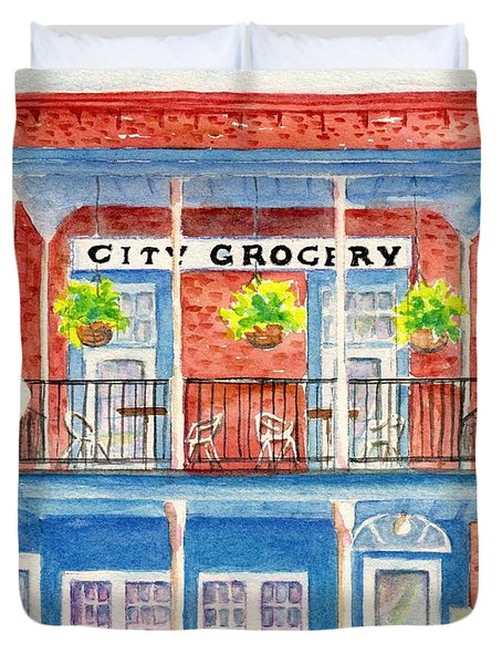 City Grocery Oxford Mississippi  Duvet Cover