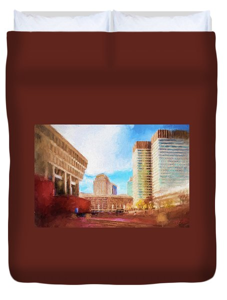 City Hall At Government Center Duvet Cover