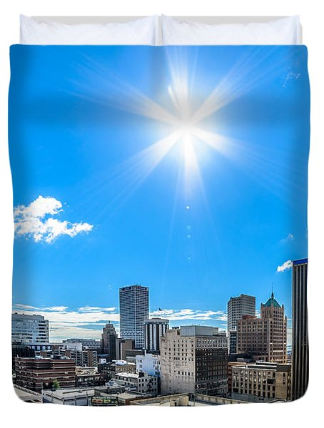 City Hall East View Duvet Cover