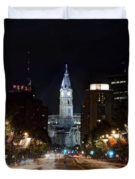 City Hall From The Parkway Duvet Cover