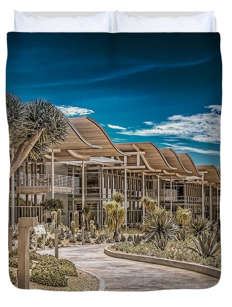 Newport Beach California City Hall Duvet Cover by TC Morgan