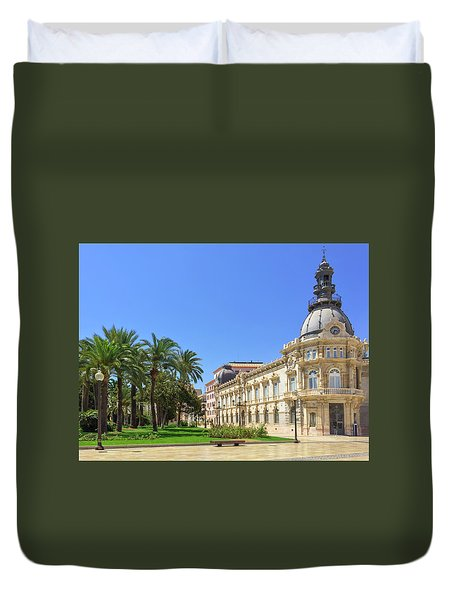 City Hall Of Cartagena In Spain Duvet Cover