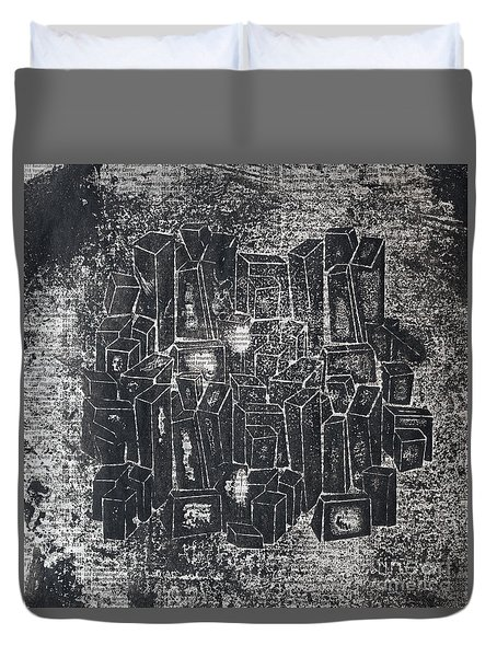 City In Dark  Duvet Cover