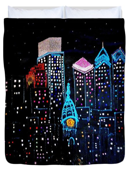 City Lights Duvet Cover