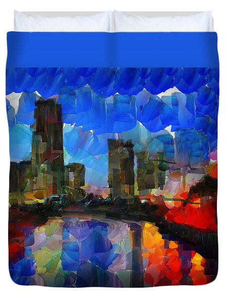 City Living - Tokyo - Skyline Duvet Cover by Sir Josef - Social Critic - ART