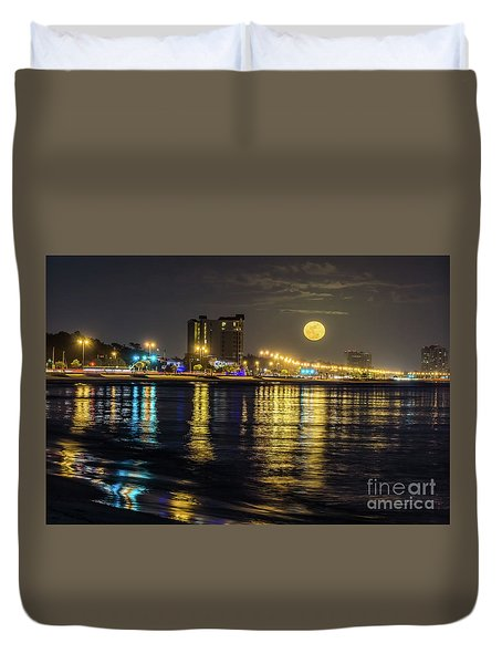 City Moon Duvet Cover by Brian Wright
