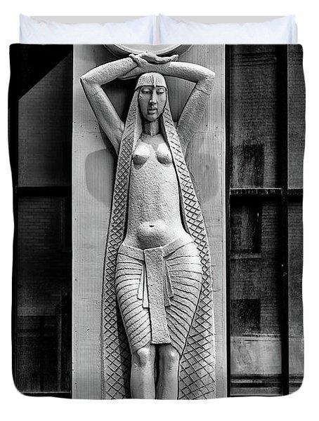 City Museum Figure Duvet Cover