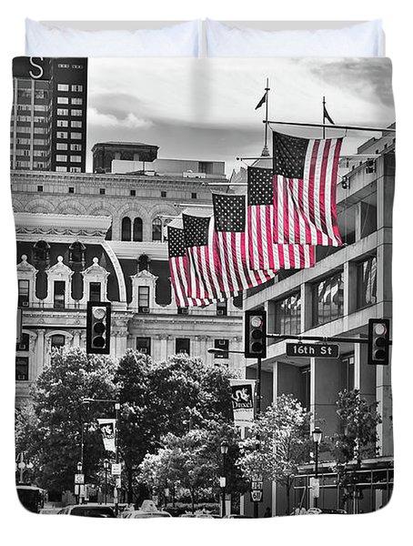 City Of Brotherly Love - Philadelphia Duvet Cover