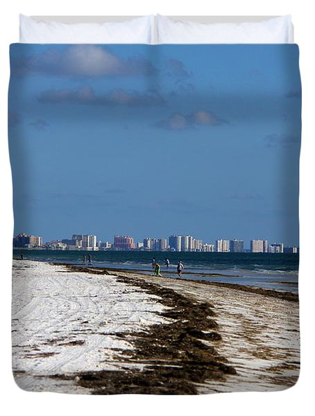 City Of Clearwater Skyline Duvet Cover