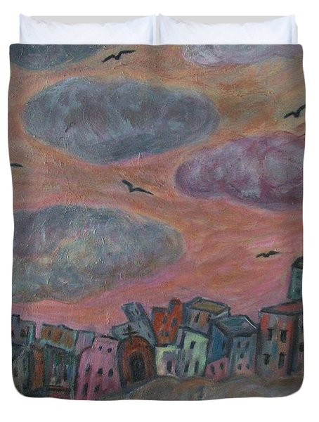 City Of Clouds Duvet Cover