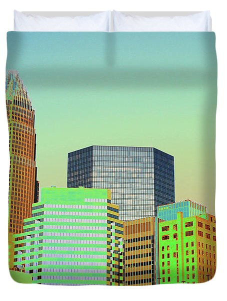 City Of Colors Duvet Cover by Karol Livote