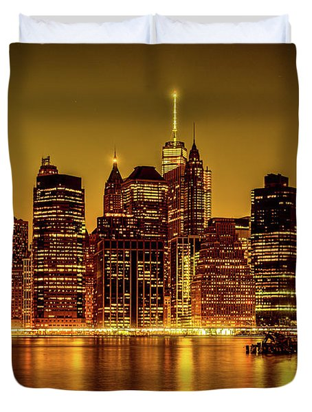 Duvet Cover featuring the photograph City Of Gold by Chris Lord