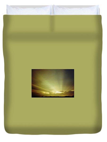 City Of Gold In The Sky Duvet Cover by Belinda Lee