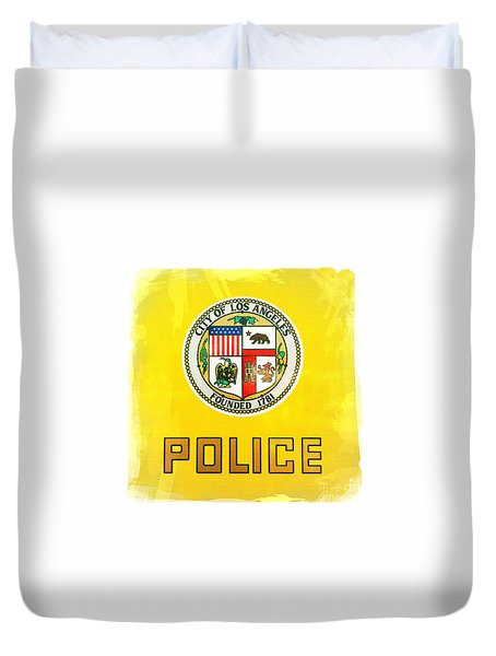 City Of Los Angeles - Police Duvet Cover