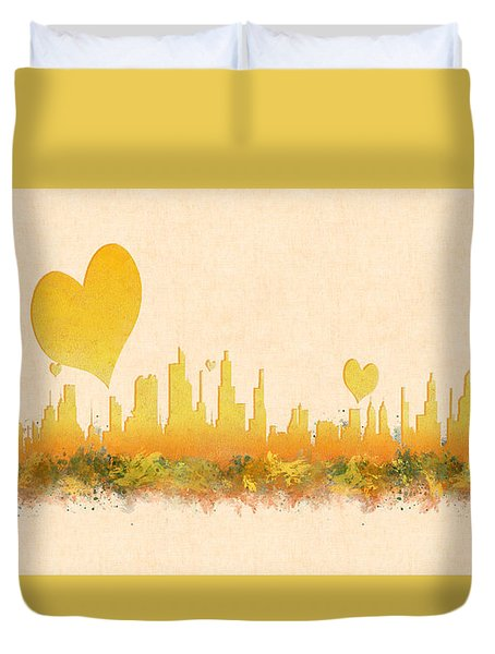 City Of Love Duvet Cover
