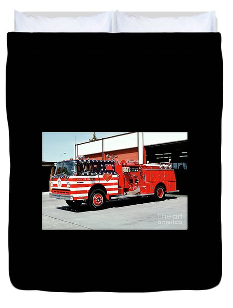 City Of Napa Van Pelt Engine 3 Duvet Cover