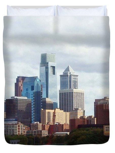 City Of Philadelphia Duvet Cover