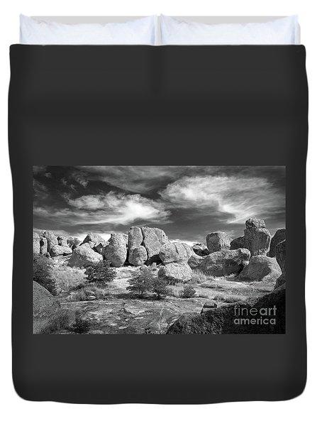 City Of Rocks And Sky Duvet Cover