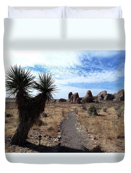 City Of Rocks - New Mexico Duvet Cover