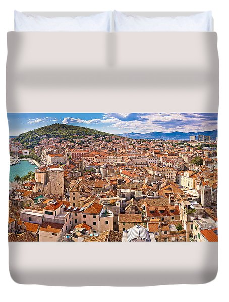 City Of Split Historic City Core Aerial View Duvet Cover by Brch Photography