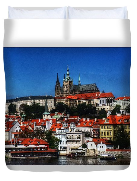 City On The River IIi Duvet Cover