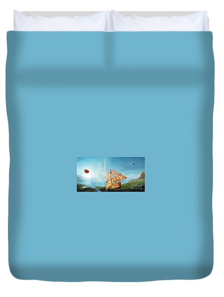City On The Sea Duvet Cover