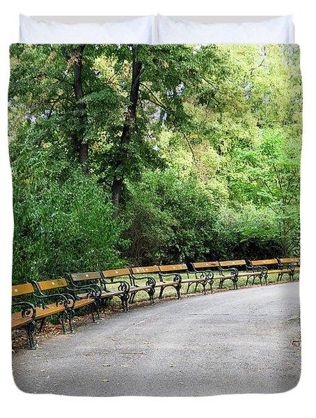 City Park, Vienna Duvet Cover