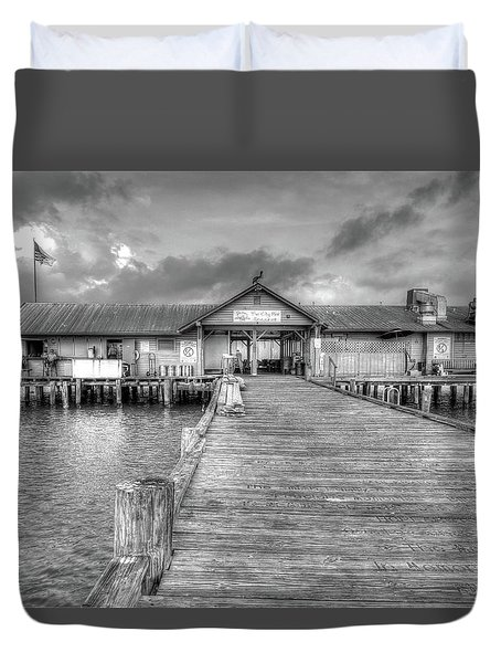 City Pier Anna Maria Island Duvet Cover