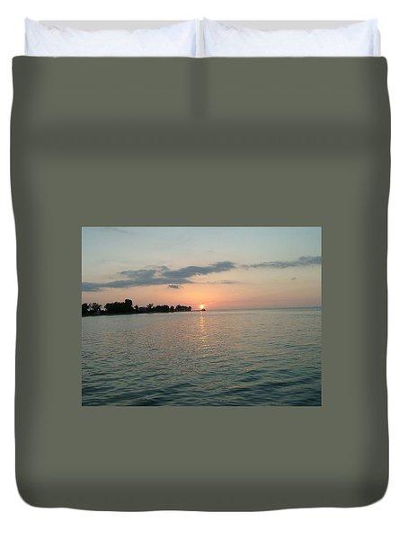 City Pier Holmes Beach Bradenton Florida Duvet Cover