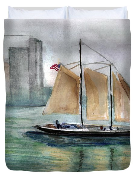 City Sail Duvet Cover by Clara Sue Beym