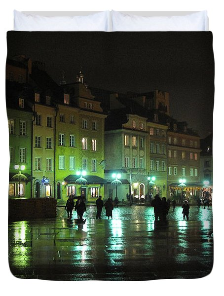 City Scape- Warsaw- Old Town Duvet Cover