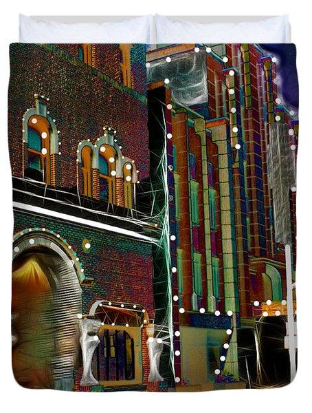 City Scene Duvet Cover by EricaMaxine  Price