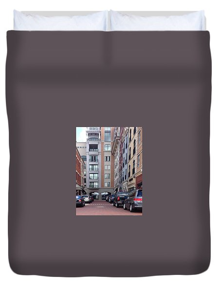 City Scene Duvet Cover by Russell Keating