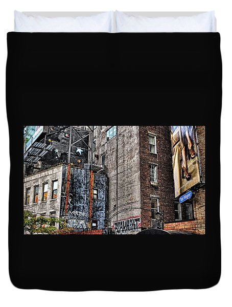 City Scenes Nyc Duvet Cover by Steve Archbold