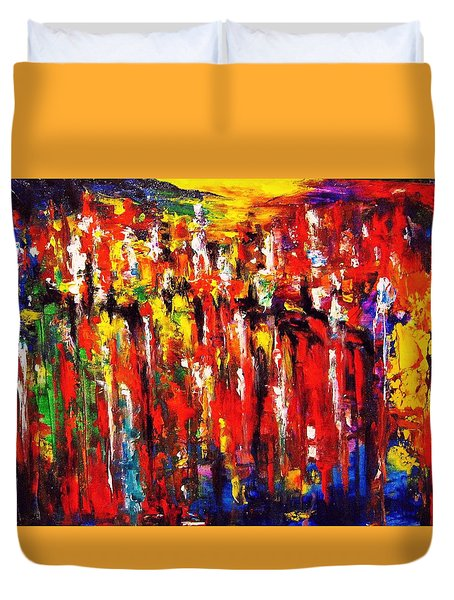 City. Series Colorscapes. Duvet Cover
