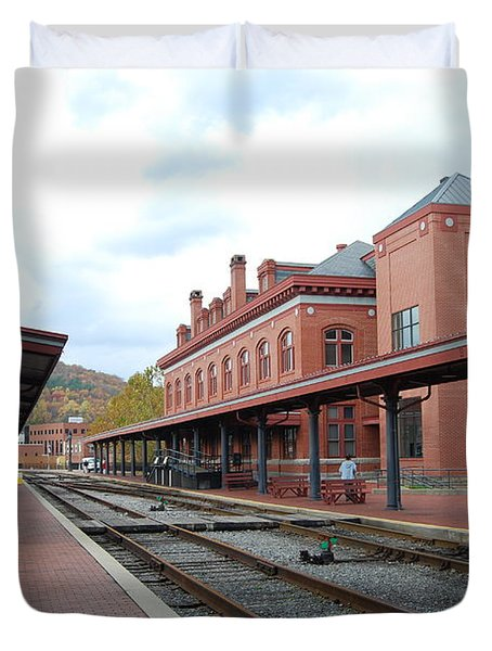 Duvet Cover featuring the photograph City Station by Eric Liller