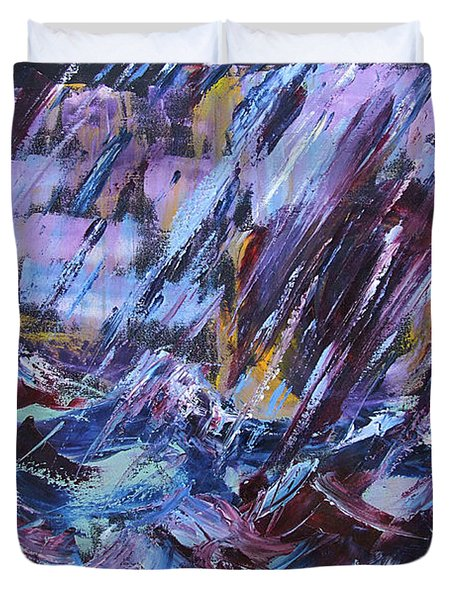 City Storm Abstract Duvet Cover