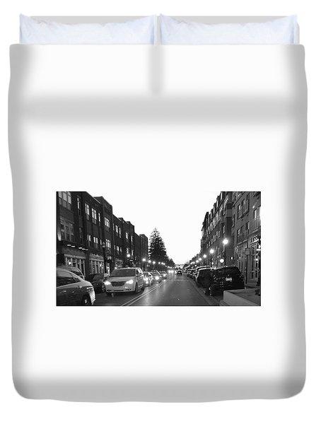 City Streets Duvet Cover by Russell Keating