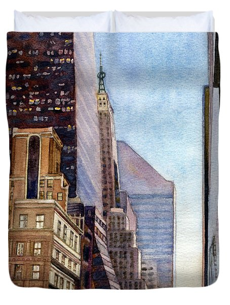 City Sunrise Duvet Cover