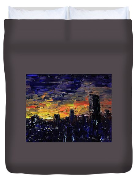 City Sunset Duvet Cover
