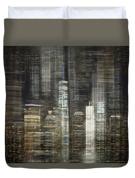 City Tetris Duvet Cover