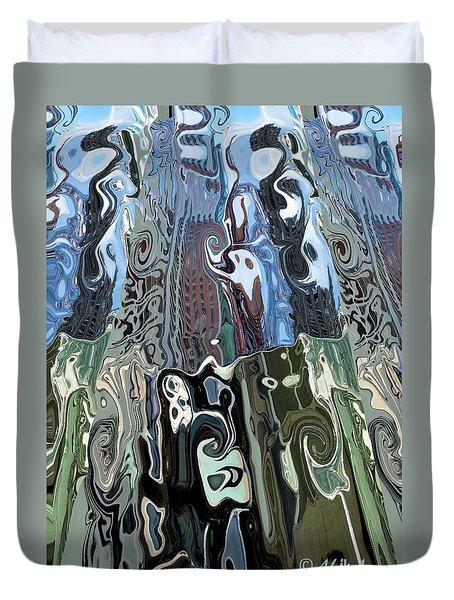 City Towers Duvet Cover by Alika Kumar