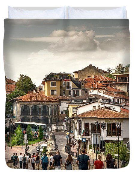 City - Veliko Tarnovo Bulgaria Europe Duvet Cover