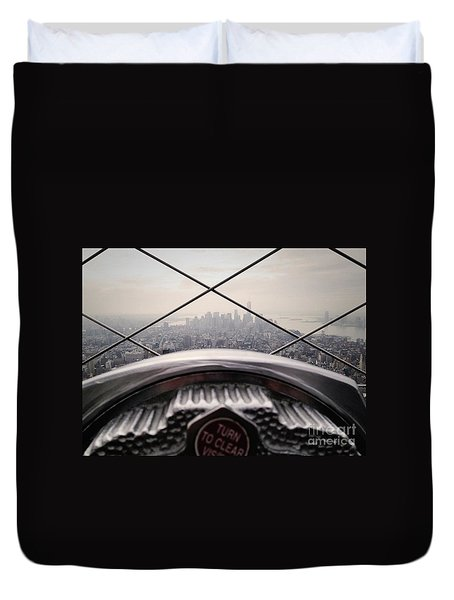 Duvet Cover featuring the photograph City View by MGL Meiklejohn Graphics Licensing