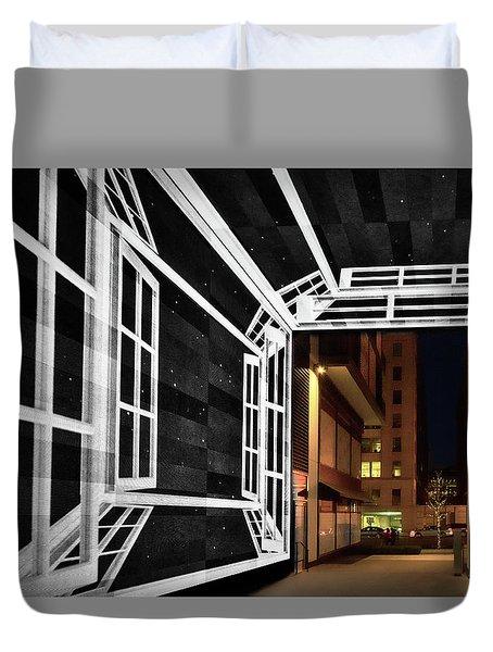 Duvet Cover featuring the photograph Citycenter Gateway - Washington by Stuart Litoff