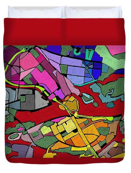 Cityplan#2 Duvet Cover
