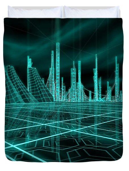 Cityscape 2010 Alpha Duvet Cover