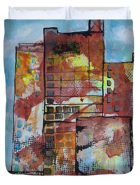 Cityscape 230 Duvet Cover by Karin Husty