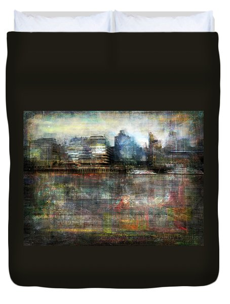 Duvet Cover featuring the photograph Cityscape #33. Silent Windows by Alfredo Gonzalez