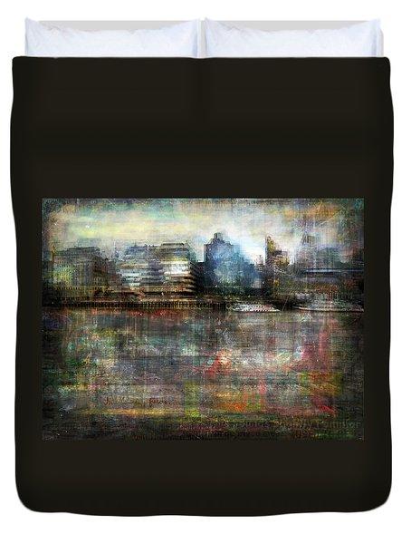 Cityscape #33. Silent Windows Duvet Cover